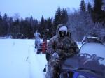 В зимнем походе.